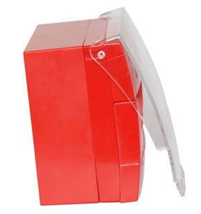 Capot de protection déclencheur manuel avec collier sécurité