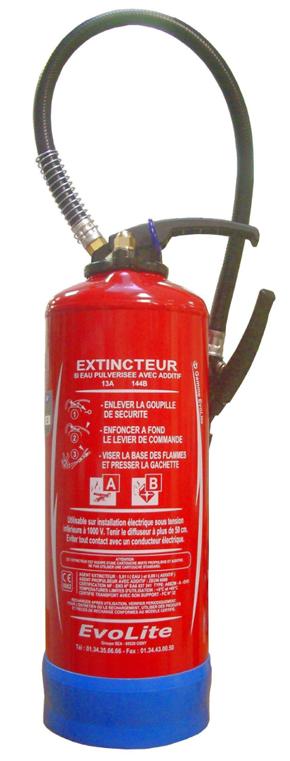 Extincteur eau 6L certifié NF et CE