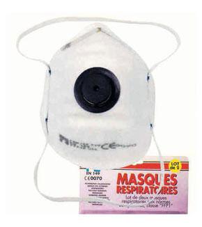 Masque anti-poussière à valve