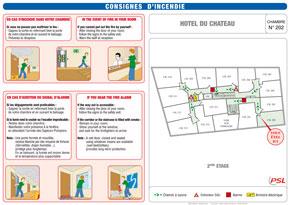 Plan de chambre format A4 avec consignes