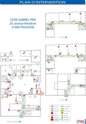 Plan d'intervention avec consignes format A3 plastifié
