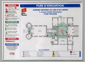 Plan d'évacuation avec consignes format A3 encadré