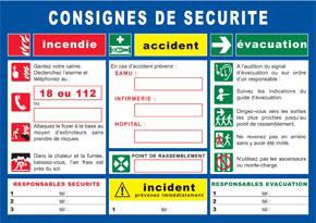 Consignes de sécurité générales format A3