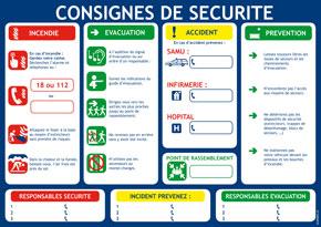 Consignes de sécurité générales format A4