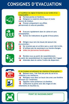 Consignes d'évacuation