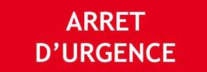 """Panneau """"Arrêt d'urgence"""""""