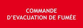"""Panneau """"Commande d'évacuation de fumées"""""""